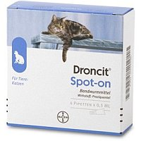 Droncit Spot on Pipetten  Wurmkuren fr Katzen