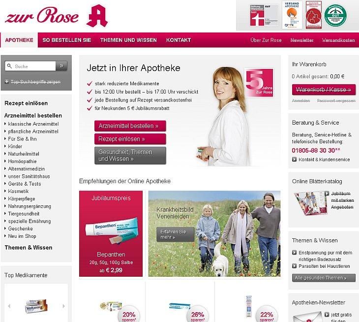 zur Rose Onlineapotheke mit neuem Shop WebDesign